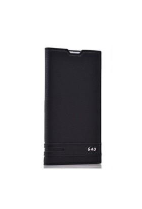 Teleplus Nokia Lumia 640 Mıknatıslı Flip Cover Kılıf Siyah