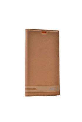 Teleplus Nokia Lumia 640 Xl Mıknatıslı Flip Cover Kılıf Sarı