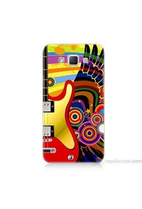 Teknomeg Samsung Galaxy Grand Max Kapak Kılıf Renkli Gitar Baskılı Silikon