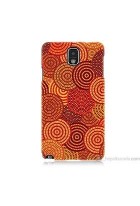Teknomeg Samsung Galaxy Note 3 Kapak Kılıf Daireler Baskılı Silikon