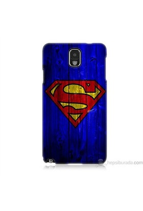 Teknomeg Samsung Galaxy Note 3 Kapak Kılıf Superman Baskılı Silikon
