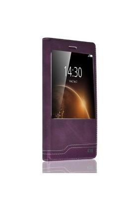 Teleplus Huawei G8 Yeni Pencereli Kılıf Mor