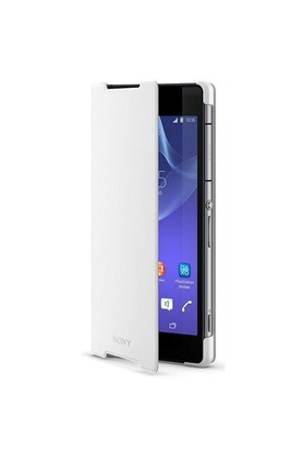 Sony SCR10 Xperia Z2 Standlı Kılıf Beyaz