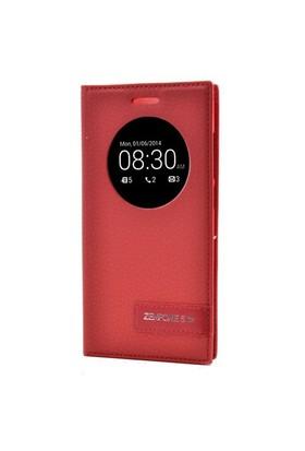 Teleplus Asus Zenfone 5 Lite Pencereli Kılıf Kırmızı