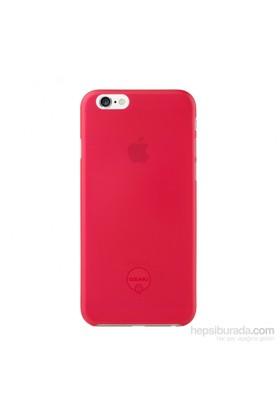 Ozaki O!coat 0.3 Jelly iPhone 6 Kılıfı + Ekran Koruyucu Film (Kırmızı) - 23061