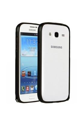 Teleplus Samsung Galaxy Grand İ9082 Metal Çerçeveli Kılıf Siyah