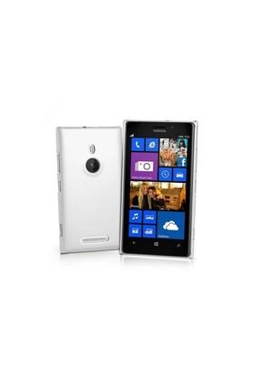 Teleplus Nokia Lumia 925 Rubber Kılıf Kapak Beyaz