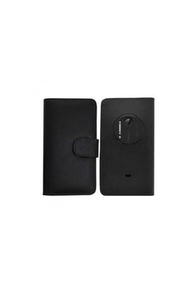 Teleplus Nokia Lumia 1020 Cüzdanlı Siyah Kılıf