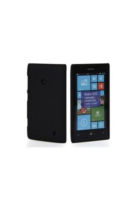 Teleplus Nokia Lumia 520 Rubber Kılıf Kapak Siyah