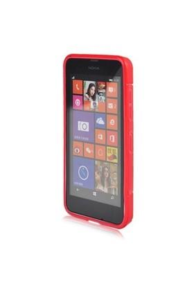 Teleplus Nokia Lumia 630 Silikon Kılıf Kırmızı