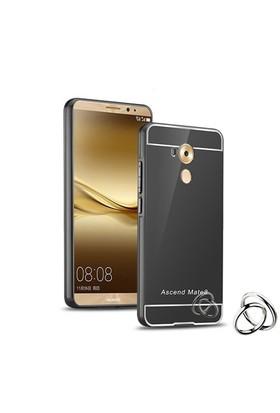 Teleplus Huawei Mate 8 Aynalı Metal Kapak Kılıf Siyah