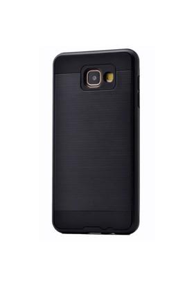 Teleplus Galaxy A5 2016 Çift Katmanlı Kapak Kılıf Siyah