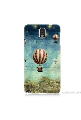 Teknomeg Samsung Galaxy Note 3 Kapak Kılıf Uçan Balon Baskılı Silikon