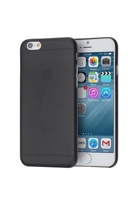 Melefoni Silikon İphone 6/6S Plus Kılıf Siyah Cam Ekran Koruyucu Hediyeli