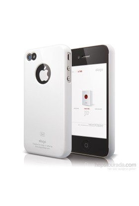 Elago Apple iPhone 4/4S Slim Fit 1 Kılıf Beyaz