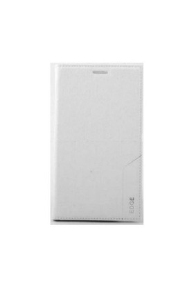 Teleplus Samsung Galaxy Note Edge Lüx Flip Cover Kılıf Beyaz