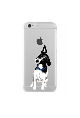 Remeto Samsung Galaxy Note 2 Transparan Silikon Resimli Şaşkın Köpek