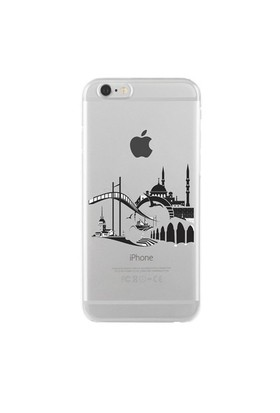 Remeto Samsung Galaxy Note 2 Transparan Silikon Resimli İstanbul Silüet