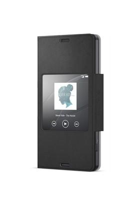 Sony SCR26 Xperia Z3 Compact Akıllı Pencere Fonksiyonlu Style Siyah Kılıf