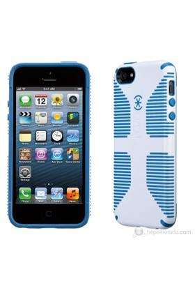 Speck CandyShell Grip Sert iPhone 5/5s Kılıfı (Beyaz, Mavi)