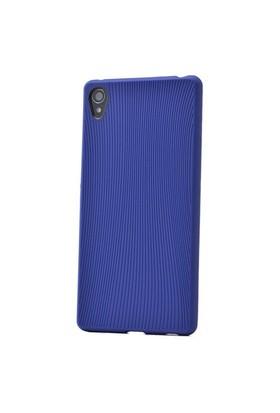 Teleplus Sony Xperia Z3 Çizgili Silikon Kılıf Mavi