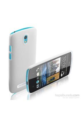 Microsonic HTC Desire 500 Premium Slim Kılıf Beyaz - CS110-DSR-500-BYZ