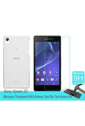Microsonic Sony Xperia Z2 Transparent Kılıf & Film Tam Koruma Set
