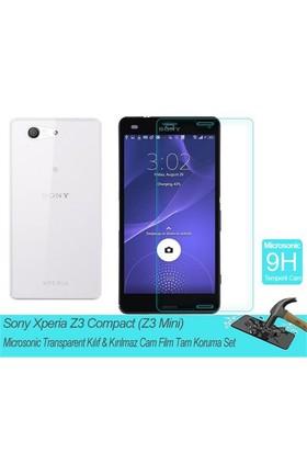 Microsonic Sony Xperia Z3 Compact Transparent Kılıf & Film Tam Koruma Set