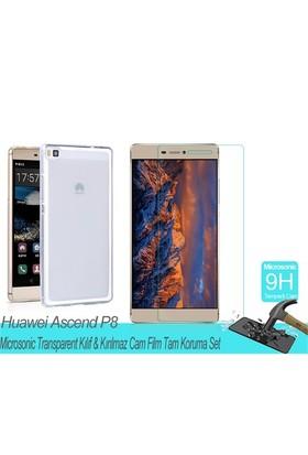Microsonic Huawei Ascend P8transparent Kılıf & Film Tam Koruma Set