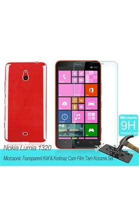 Microsonic Nokina Lumia 1320 Transparent Kılıf & Film Tam Koruma Set