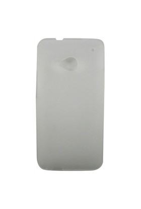 Teleplus Htc One / M7 Beyaz Şeffaf Silikon Kılıf