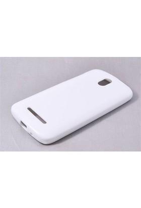 Teleplus Htc Desire 500 Silikon Kılıf Kapak Beyaz