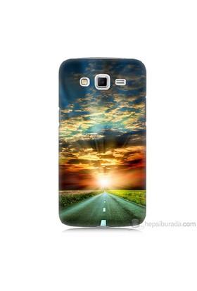 Teknomeg Samsung Galaxy Grand 2 Kapak Kılıf Yol Baskılı Silikon