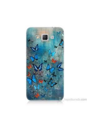 Teknomeg Samsung Galaxy Grand Max Kapak Kılıf Kelebekler Baskılı Silikon