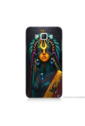 Teknomeg Samsung Galaxy Grand Max Kapak Kılıf İllustrations Resim Baskılı Silikon