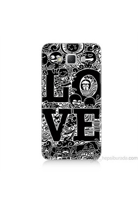 Teknomeg Samsung Galaxy Grand Max Kapak Kılıf Love Baskılı Silikon