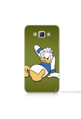 Teknomeg Samsung Galaxy Grand Max Kapak Kılıf Donald Dock Baskılı Silikon