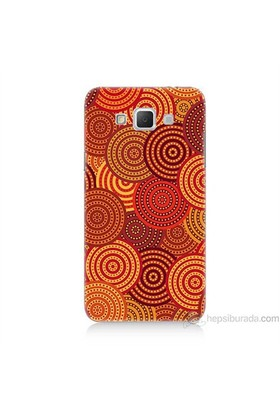 Teknomeg Samsung Galaxy Grand Max Kapak Kılıf Daireler Baskılı Silikon