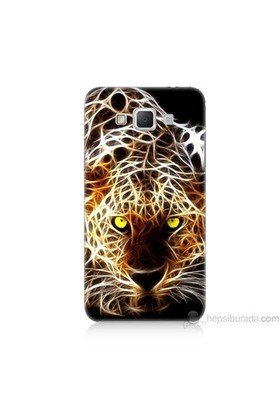 Teknomeg Samsung Galaxy Grand Max Kapak Kılıf Yanan Aslan Baskılı Silikon