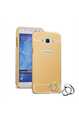 Teleplus Samsung Galaxy Grand İ9082 Aynalı Metal Kapak Kılıf Gold
