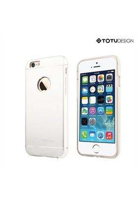 Totu Design Apple iPhone 6 Plus Jaeger Series Metal Arka Kapak Gümüş
