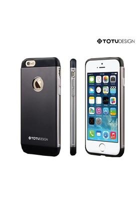 Totu Design Apple iPhone 6 Knight Series Metal Arka Kapak Space Gray