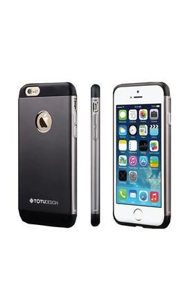 Totu Design Apple iPhone 6 Plus Knight Series Metal Arka Kapak Space Gray
