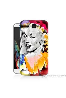 Teknomeg Lg K8 Kapak Kılıf Marilyn Monroe Baskılı Silikon