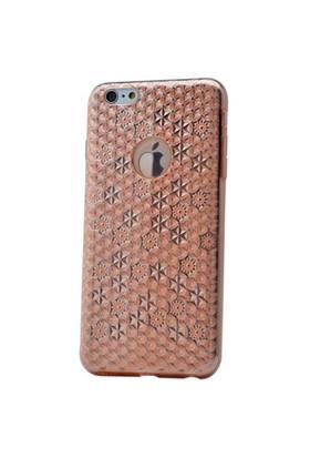 Teleplus İphone 6S Plus Desenli Silikon Kılıf Rose Gold