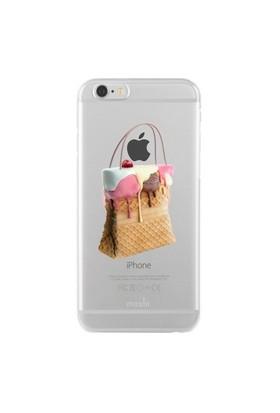 Remeto Samsung Galaxy S4 Mini Transparan Silikon Resimli Dondurma Tasarımlı Çanta