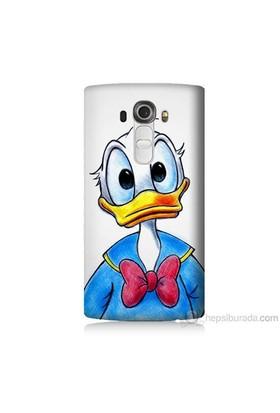 Teknomeg Lg G4 Beat Kapak Kılıf Donald Duck Baskılı Silikon