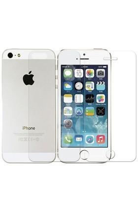 Sonmodashop Apple iPhone 5S Ön Arka Temperli Cam Ekran