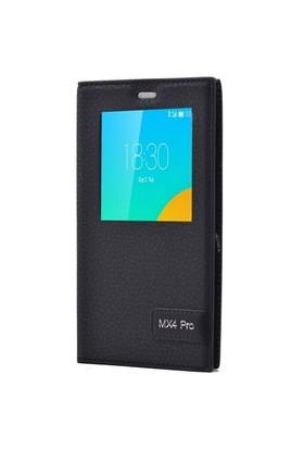 Teleplus Meizu Mx4 Pro Mıknatıslı Pencereli Kılıf Siyah