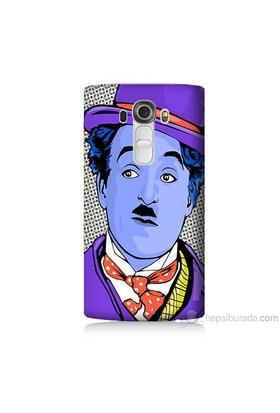 Teknomeg Lg G4 Beat Kapak Kılıf Charlie Chaplin Baskılı Silikon